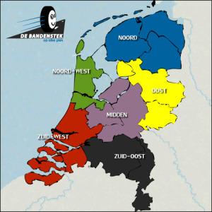 kaart nederland bandenstek